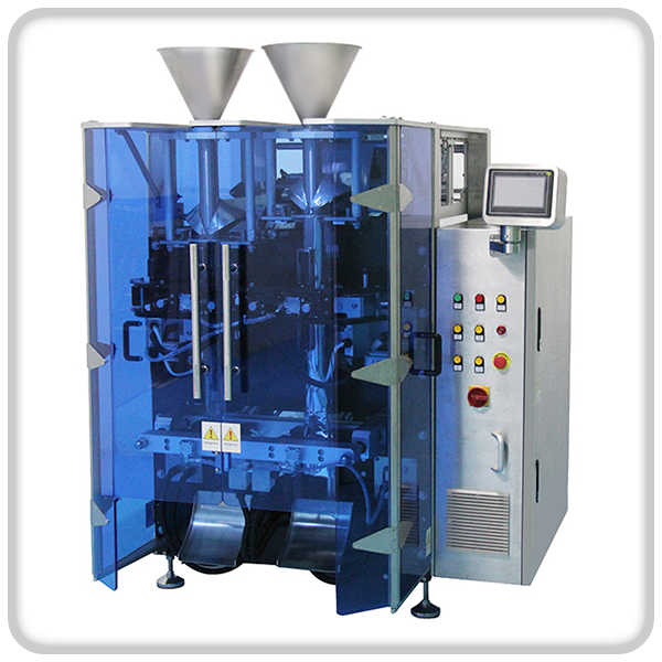 DOUBLE FILLING VFFS PACKING MACHINE